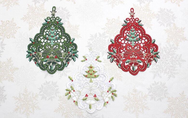 レース,通販,クリスマス,オーナメント,刺繍