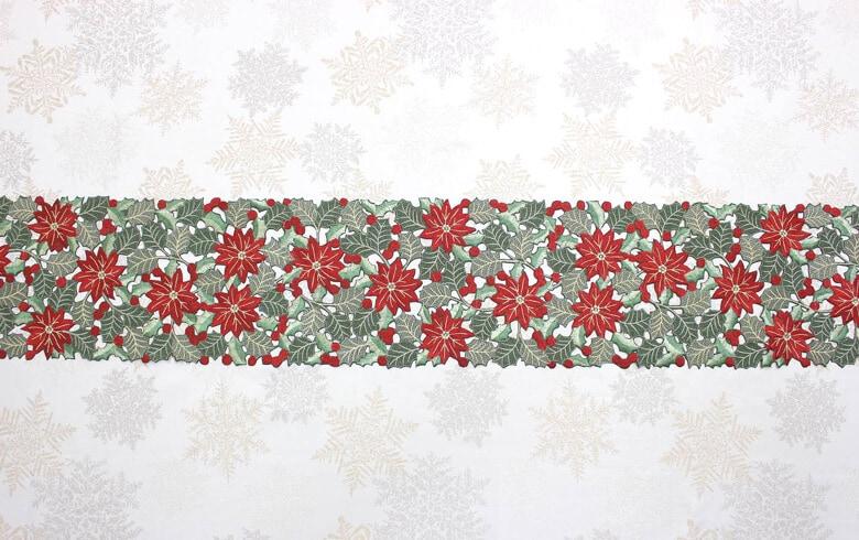 レース,通販,クリスマス,テーブルランナー,刺繍