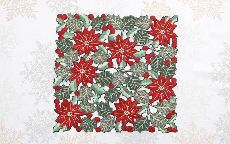 レース,通販,クリスマス,ドイリー,刺繍