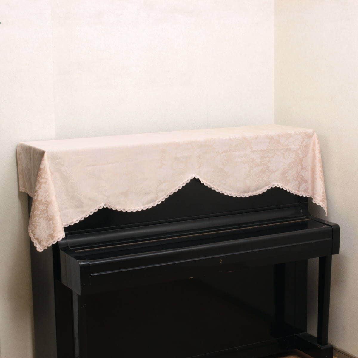 はっ水加工ジャカード織エレガントフラワーのピアノカバー,ピンクです。