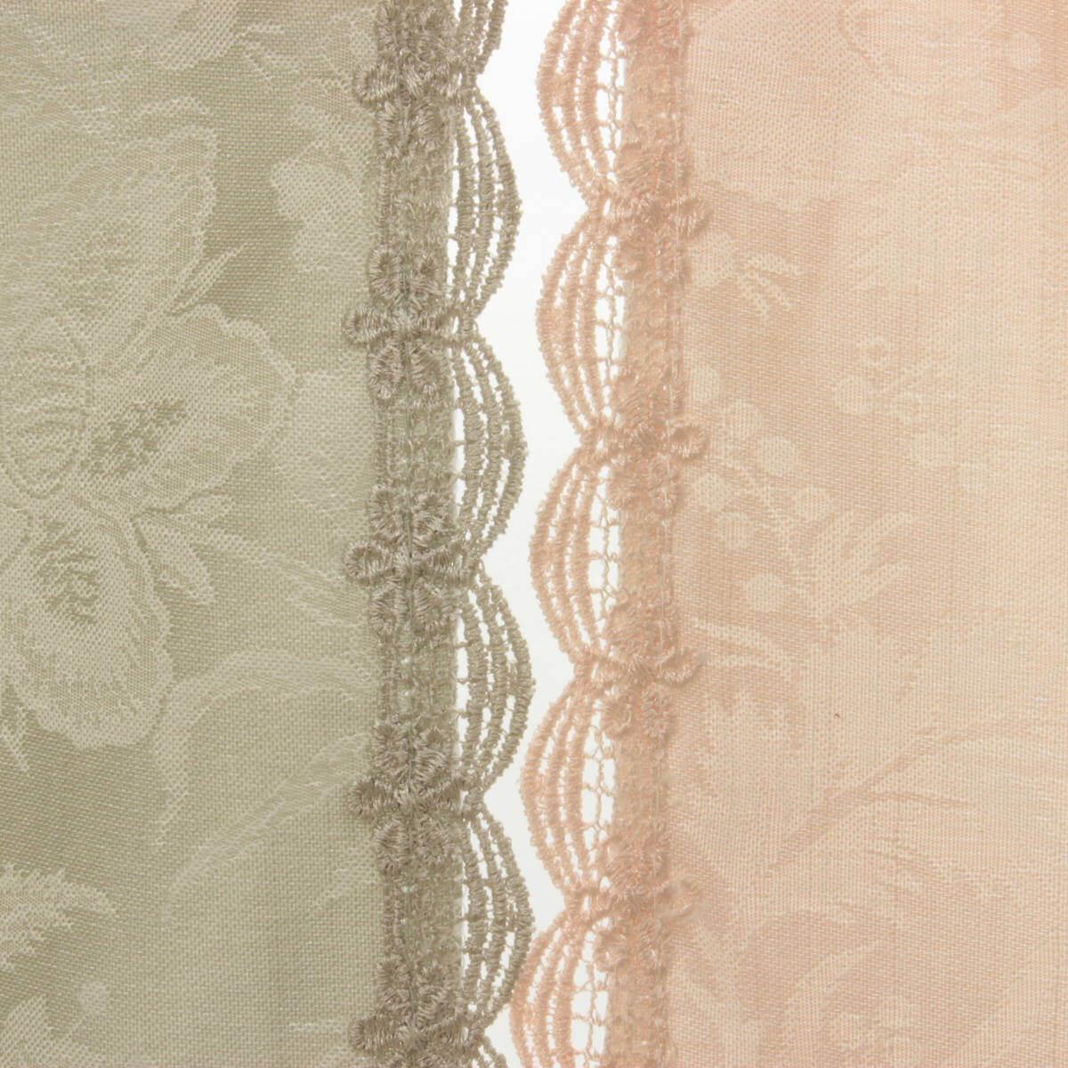はっ水加工ジャカード織エレガントフラワーはグレーとピンクの2色展開。