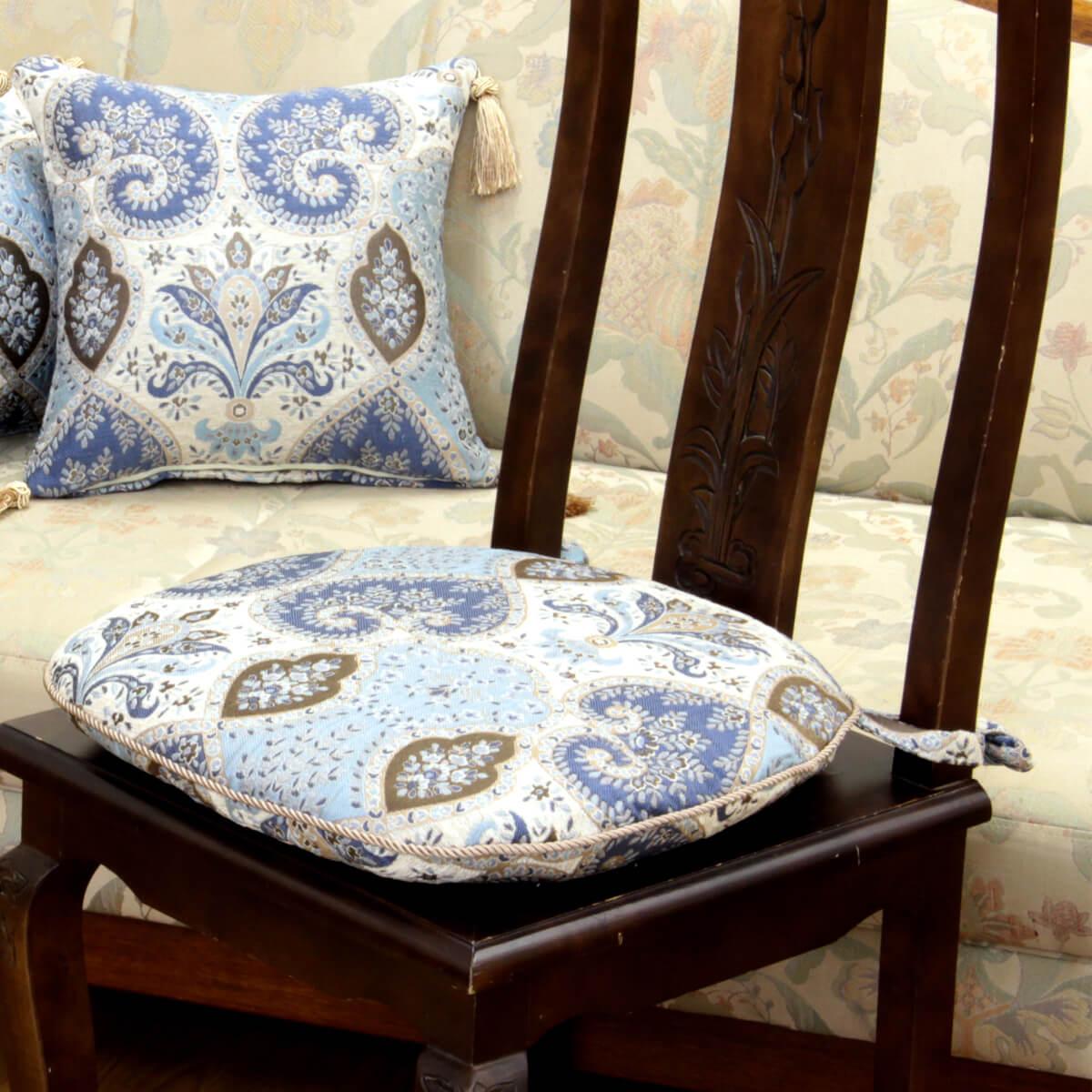 アルヴァ シリーズ シェニール織の紐付シートクッションです。