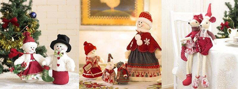可愛いクリスマスドールはお揃いで
