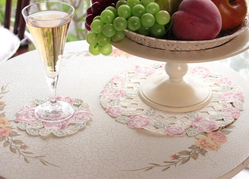 バラ柄コード刺繍の小物
