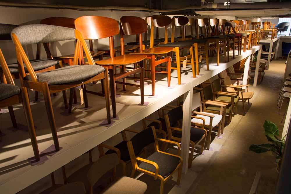 北欧ヴィンテージ家具 4本脚の椅子
