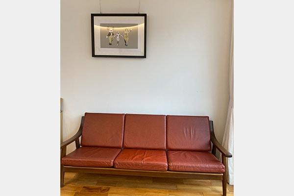 北欧ビンテージ家具 GE530 3seaters sofa by Hans J Wegner
