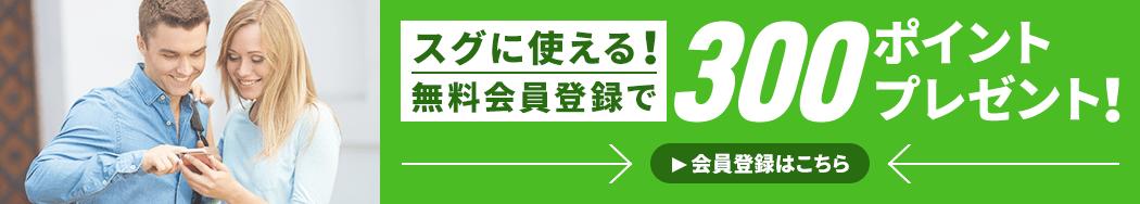 スグに使える!無料会員登録で100ポイントプレゼント! >会員登録はこちら