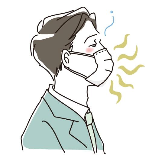 マスクのむれ、口臭、通気性