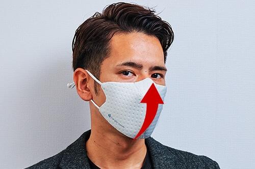 マスク肌荒れを防ぐメッシュ機能