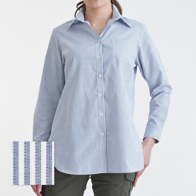 ロングシャツ/キャリアネイビー