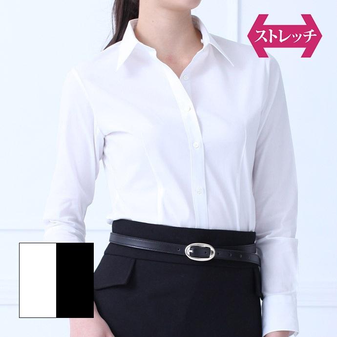 長袖・ウエストシェイプ/ホワイト
