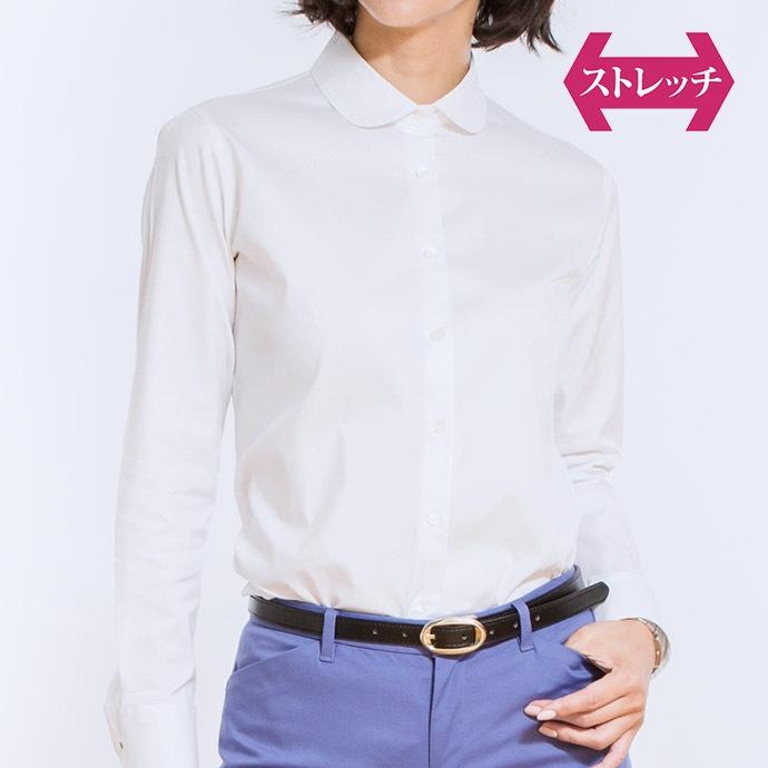丸襟/ホワイト