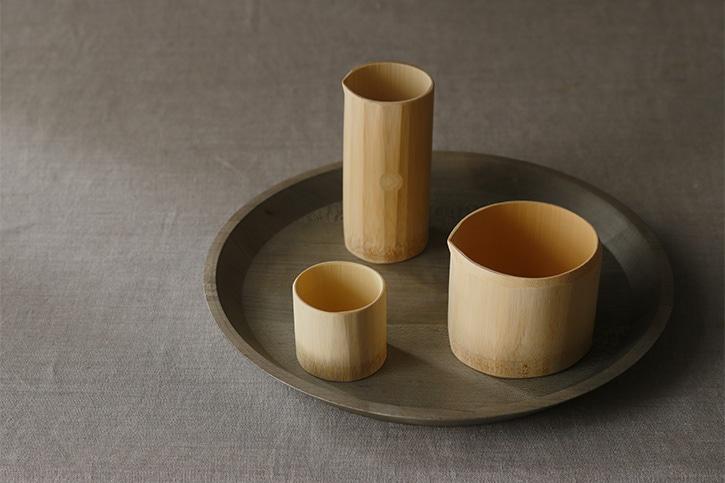 竹の酒器(公長齋小菅)