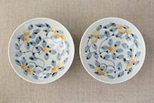 色絵桃の木 鉢 (九谷青窯・堀畑蘭)