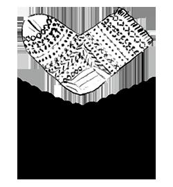 西口靴下ロゴ