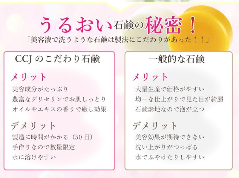 クチュリエ・コスメ・ジャパンのうるおい石鹸の秘密