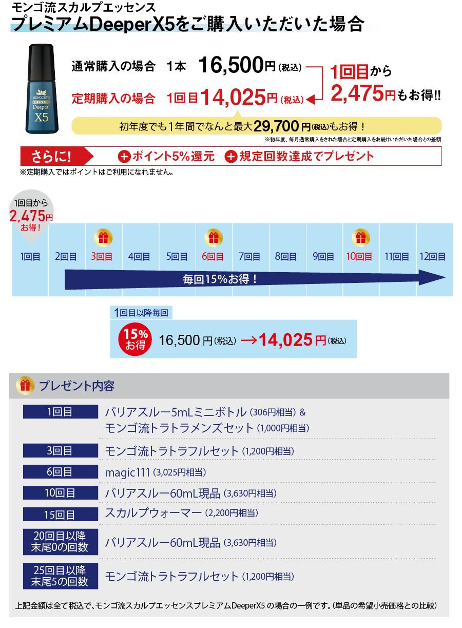 プレミアムDeeperX5の場合9,075円お得
