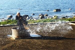 揚げ浜式製塩法