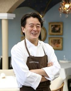 レストラン「カノビアーノ」のシェフ 植竹隆政氏