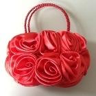 「パーティ用花柄バッグ」 バラモチーフのパーティバッグ
