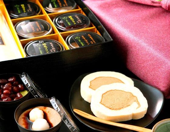 高級風呂敷付・選べるかがロール&加賀プリン6個詰め合わせセット
