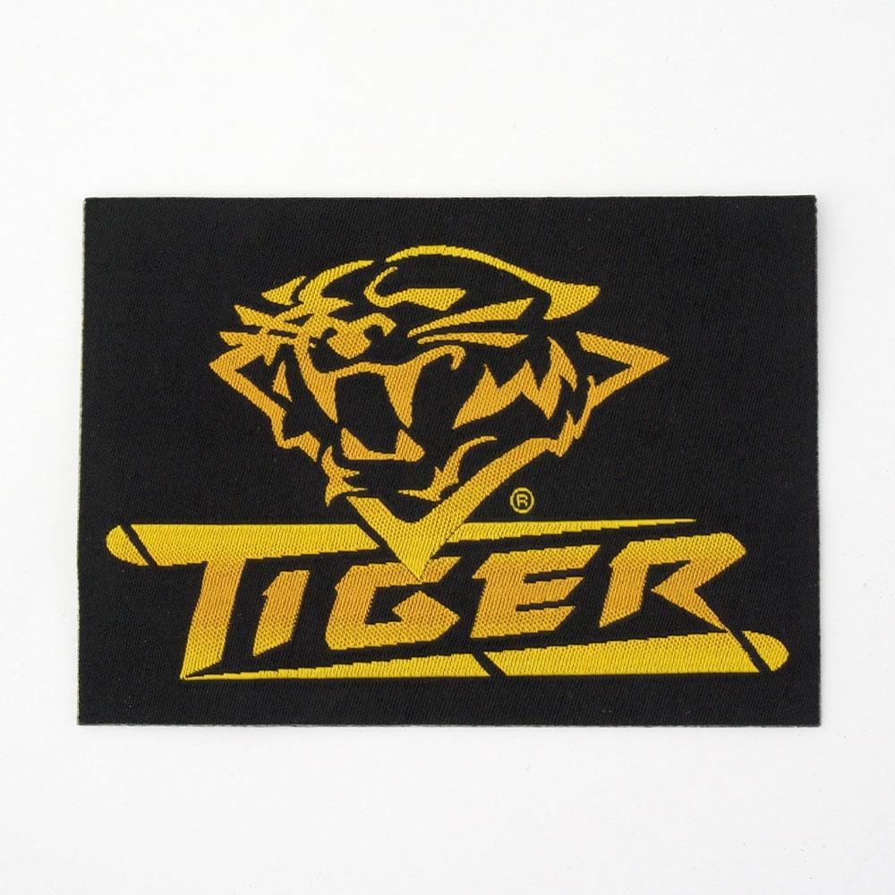 【メール便可】Tiger タイガー ワッペン ロゴマーク 黒/黄 四角商品サブ画像
