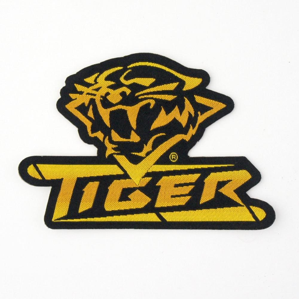 【メール便可】Tiger タイガー ワッペン ロゴマーク 黒/黄 型抜き商品サブ画像
