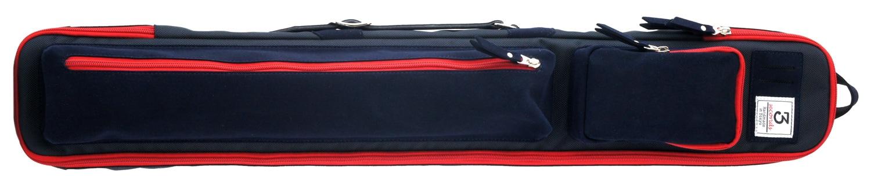 スリーセカンズ ケース ネイビー/レッド 2b4s キャロム・ポケット兼用 商品画像