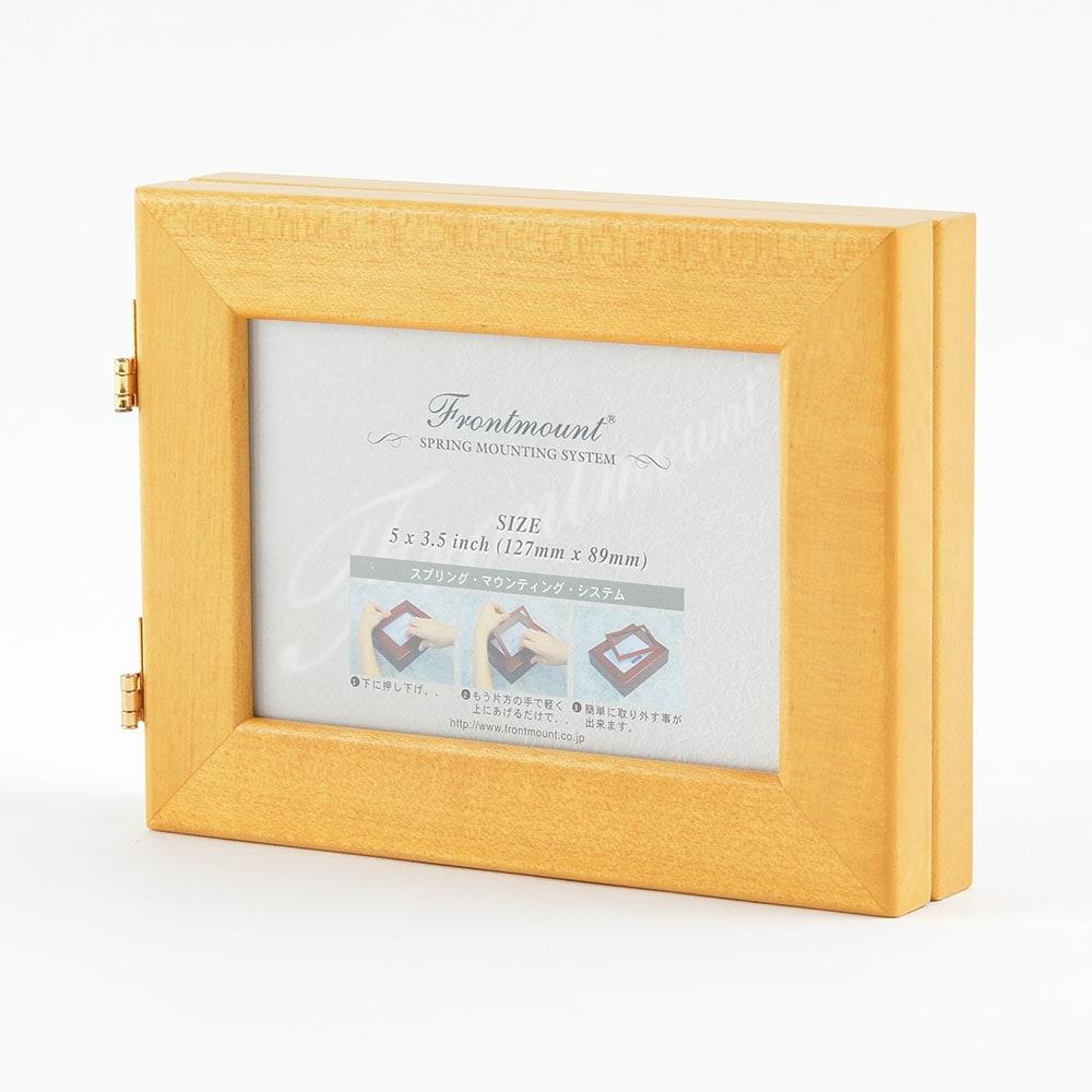 ダブルフォトフレーム FMF352HO ゴールデンオーク商品サブ画像