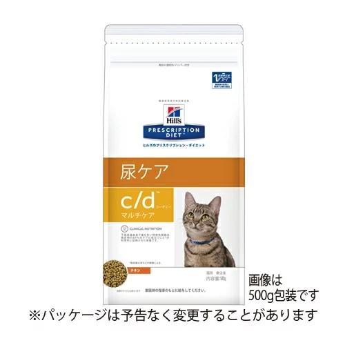 ヒルズ 猫用 c/d 尿ケア マルチケア ドライ 500g
