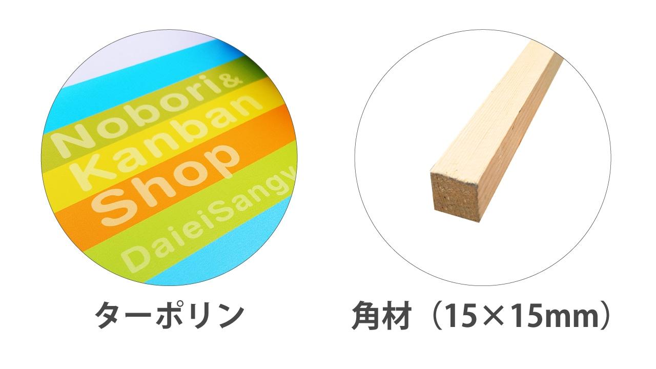 材質|ターポリン、木枠
