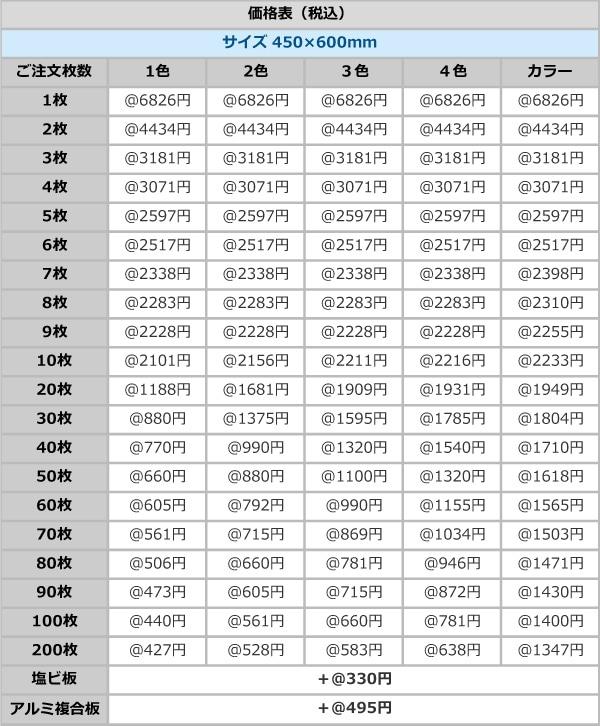 税込価格表