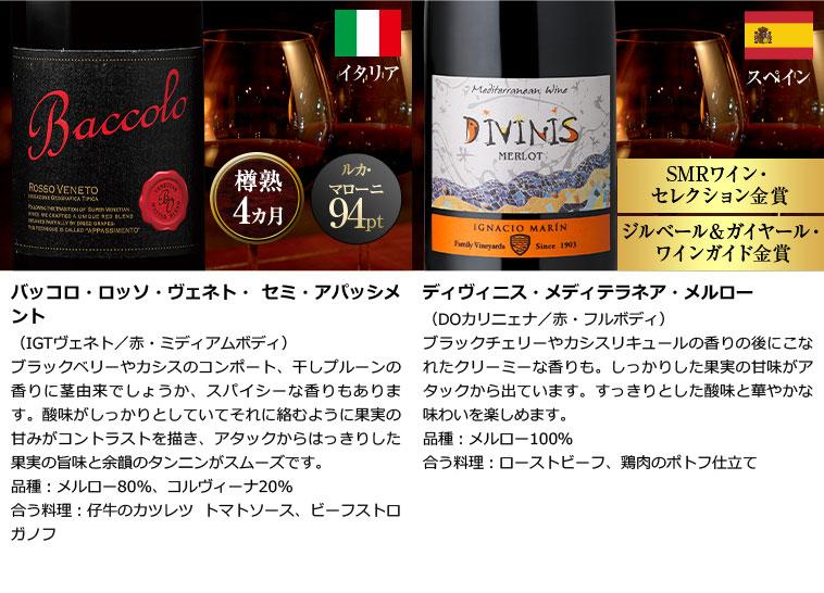 パーカー高評価生産者ワイン入り!世界6ヵ国赤ワイン12本セット