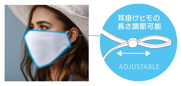 マスクヒモ調整可能