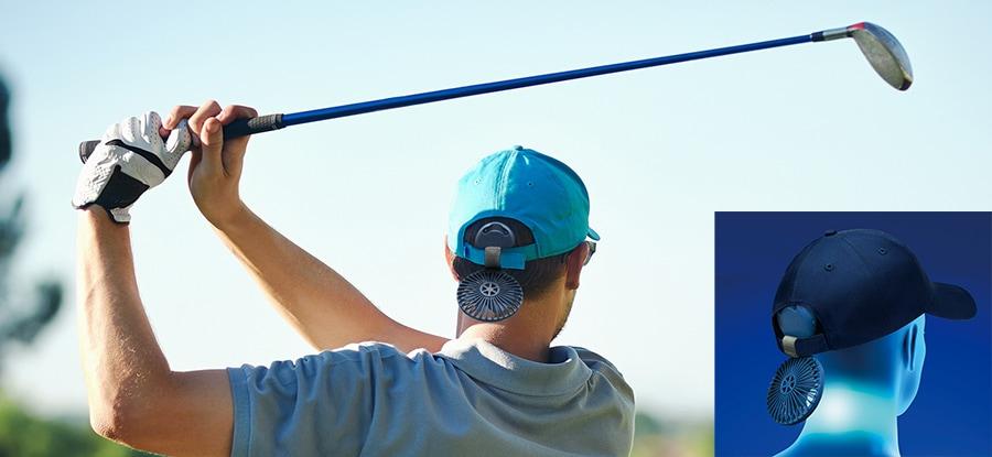 ゴルフの暑さ対策・手ぶらで涼風・マイファンポケット