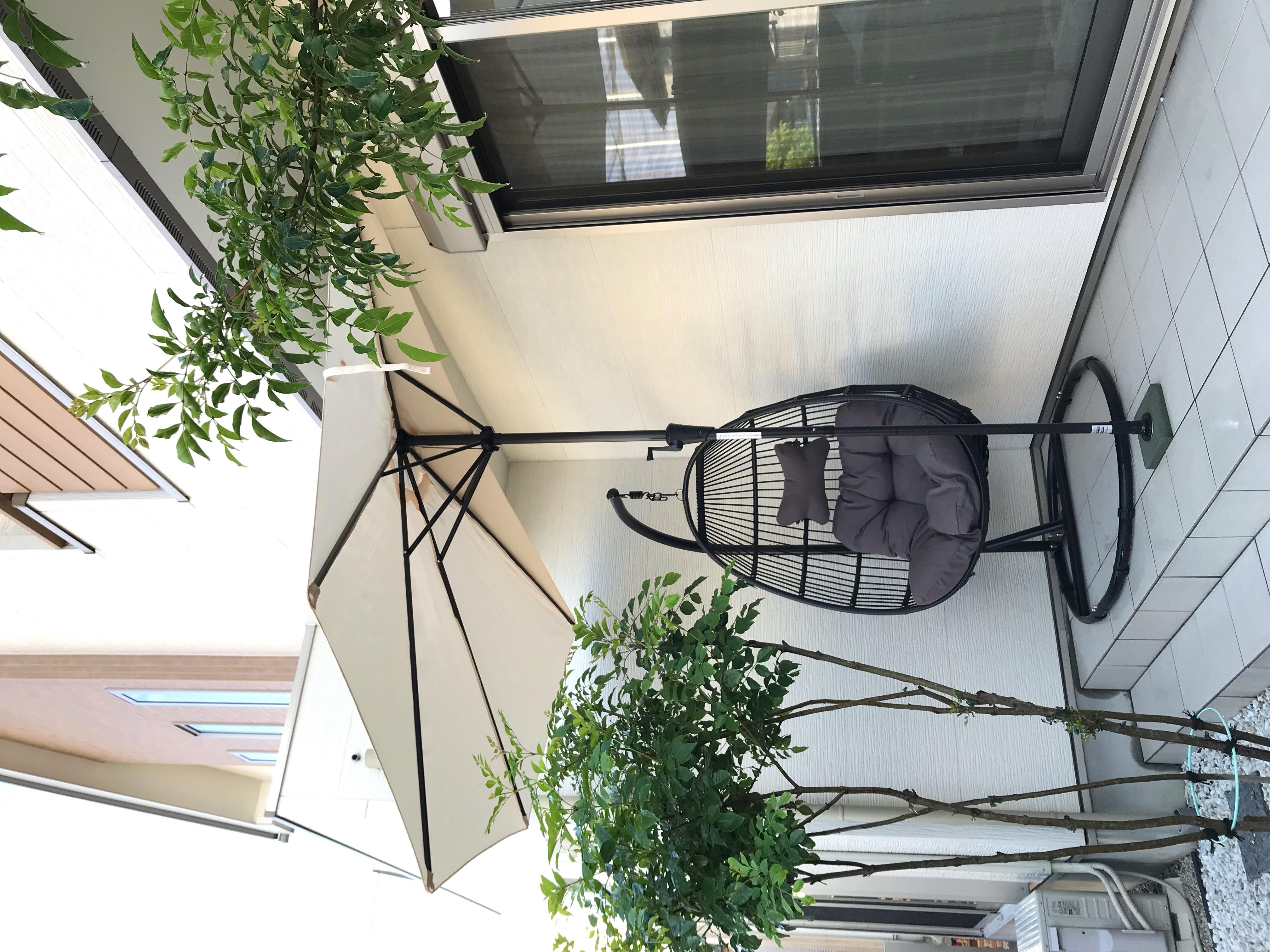 パラシェードハーフ,自宅の庭での設置写真