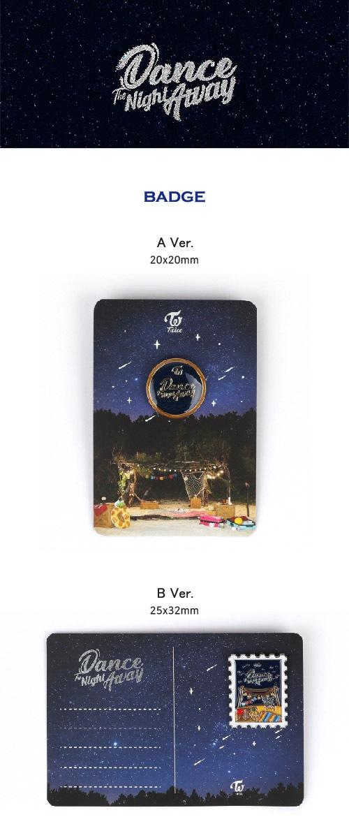(先払いのみ)韓国スターグッズ TWICE(トゥワイス) SUMMER POP-UP STORE OFFICIAL MD -  バッジ(3種1択)-韓流ショップ
