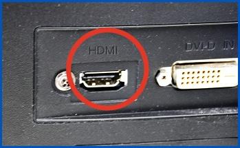 HDMIケーブル経由でモニターへ出力