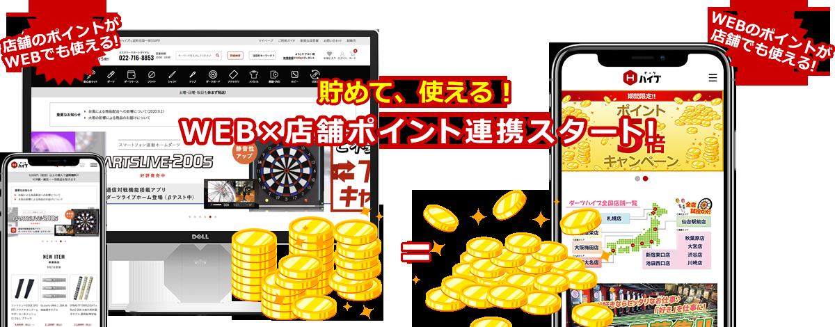 貯めて、使える!WEB×店舗ポイント共通化スタート!