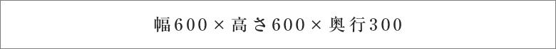 幅600×高さ650×奥行300