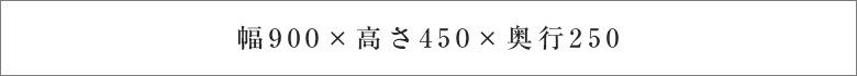 幅900×高さ450×奥行250
