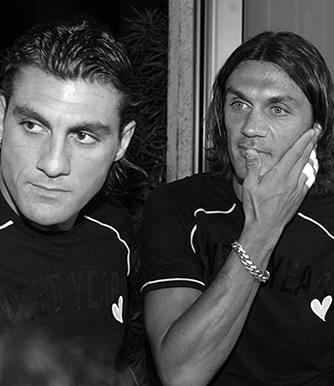 Paolo Maldini(パオロ・マルディーニ)とChristian Vieri(クリスチャン・ヴィエリ)