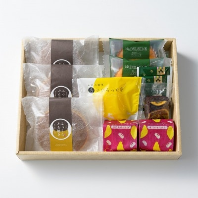 親・祖父母プレゼントに人気の和菓子&洋菓子 風呂敷包み 詰め合わせ6種(小)/風呂敷包み OyaimaスイーツC