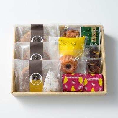 親・祖父母プレゼントに人気の和菓子&洋菓子 風呂敷包み 詰め合わせ8種 (中)/OyaimaスイーツセレクションB
