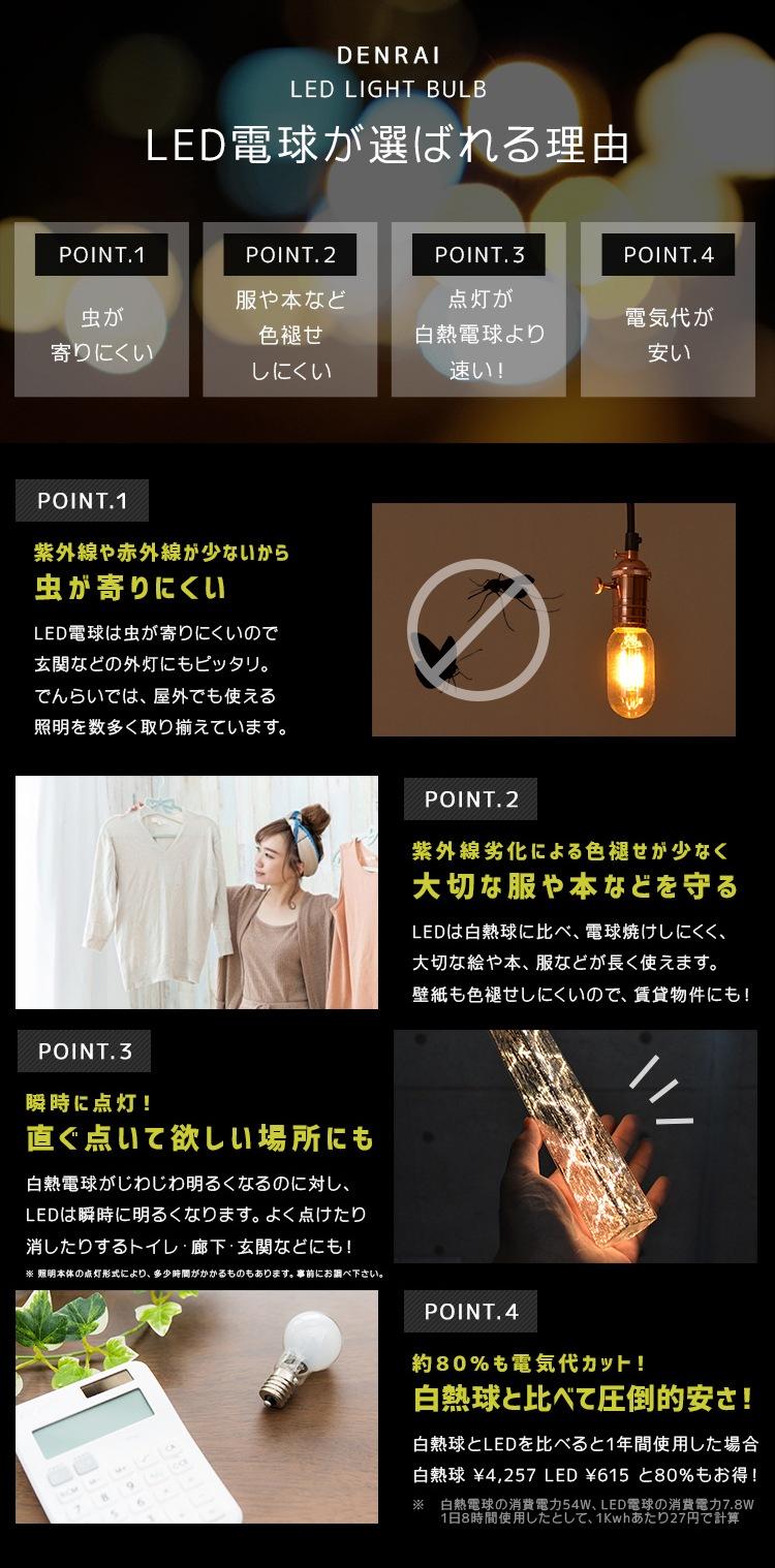 LEDが選ばれる理由