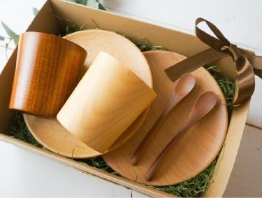 木の食器ギフト6点セット