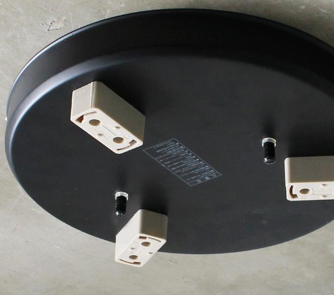 3灯フランジ ブラック