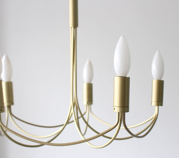 Arco-small chandelier antique gold 横から