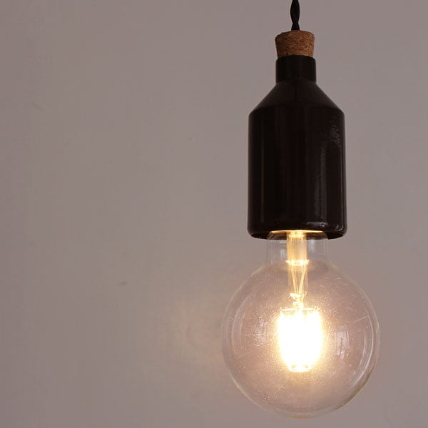 LED Concone pendant lamp black
