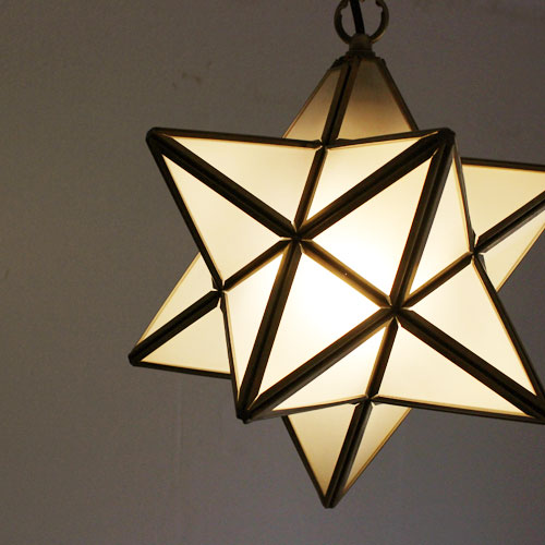 LED Etoile pendant lamp frost